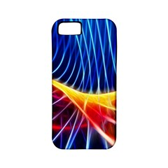 Color Colorful Wave Abstract Apple Iphone 5 Classic Hardshell Case (pc+silicone)