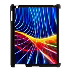Color Colorful Wave Abstract Apple iPad 3/4 Case (Black)