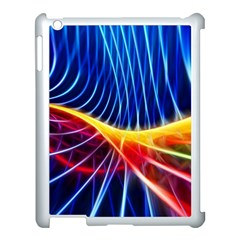 Color Colorful Wave Abstract Apple Ipad 3/4 Case (white)