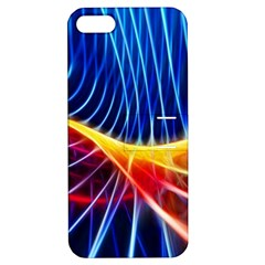 Color Colorful Wave Abstract Apple Iphone 5 Hardshell Case With Stand