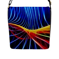 Color Colorful Wave Abstract Flap Messenger Bag (l)