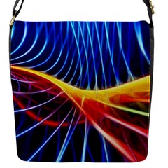 Color Colorful Wave Abstract Flap Messenger Bag (s)
