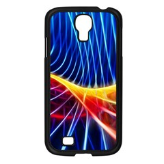 Color Colorful Wave Abstract Samsung Galaxy S4 I9500/ I9505 Case (black)