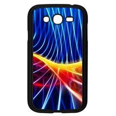 Color Colorful Wave Abstract Samsung Galaxy Grand Duos I9082 Case (black)