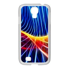 Color Colorful Wave Abstract Samsung Galaxy S4 I9500/ I9505 Case (white)