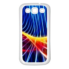 Color Colorful Wave Abstract Samsung Galaxy S3 Back Case (white)