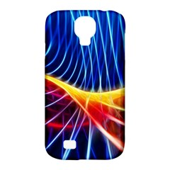 Color Colorful Wave Abstract Samsung Galaxy S4 Classic Hardshell Case (pc+silicone)