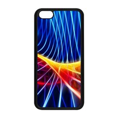 Color Colorful Wave Abstract Apple Iphone 5c Seamless Case (black)