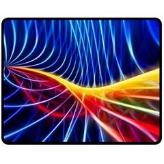 Color Colorful Wave Abstract Double Sided Fleece Blanket (medium)