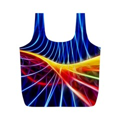Color Colorful Wave Abstract Full Print Recycle Bags (m)