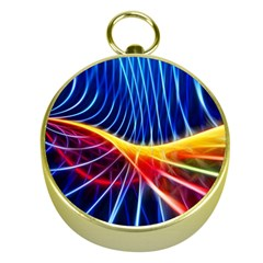 Color Colorful Wave Abstract Gold Compasses