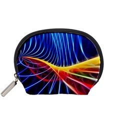 Color Colorful Wave Abstract Accessory Pouches (small)