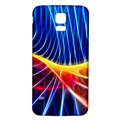 Color Colorful Wave Abstract Samsung Galaxy S5 Back Case (white)