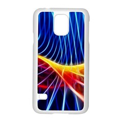 Color Colorful Wave Abstract Samsung Galaxy S5 Case (white)
