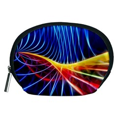 Color Colorful Wave Abstract Accessory Pouches (medium)