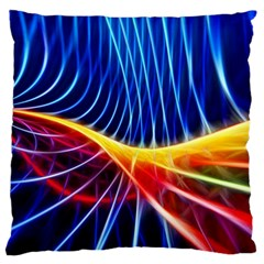 Color Colorful Wave Abstract Large Flano Cushion Case (one Side)