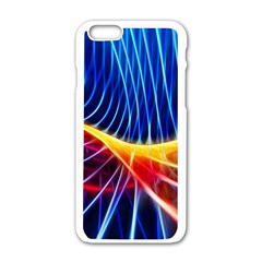 Color Colorful Wave Abstract Apple Iphone 6/6s White Enamel Case