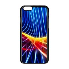 Color Colorful Wave Abstract Apple Iphone 6/6s Black Enamel Case