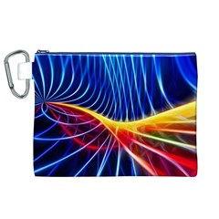 Color Colorful Wave Abstract Canvas Cosmetic Bag (xl)