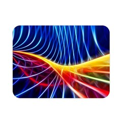 Color Colorful Wave Abstract Double Sided Flano Blanket (mini)