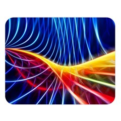 Color Colorful Wave Abstract Double Sided Flano Blanket (large)
