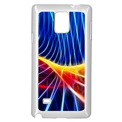 Color Colorful Wave Abstract Samsung Galaxy Note 4 Case (white)