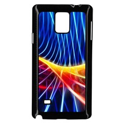 Color Colorful Wave Abstract Samsung Galaxy Note 4 Case (black)