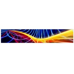 Color Colorful Wave Abstract Flano Scarf (large)