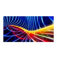 Color Colorful Wave Abstract Satin Wrap