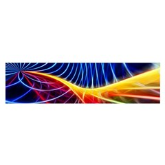 Color Colorful Wave Abstract Satin Scarf (Oblong)