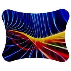 Color Colorful Wave Abstract Jigsaw Puzzle Photo Stand (bow)