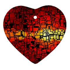 Board Conductors Circuits Ornament (heart)