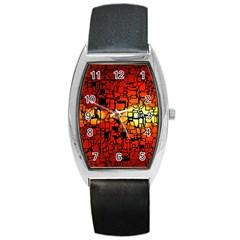 Board Conductors Circuits Barrel Style Metal Watch