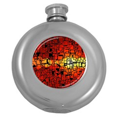 Board Conductors Circuits Round Hip Flask (5 Oz)
