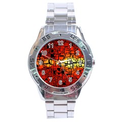 Board Conductors Circuits Stainless Steel Analogue Watch
