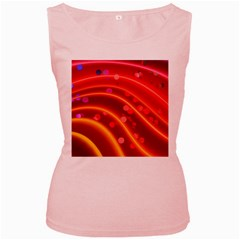 Bokeh Lines Wave Points Swing Women s Pink Tank Top