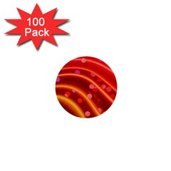 Bokeh Lines Wave Points Swing 1  Mini Buttons (100 pack)