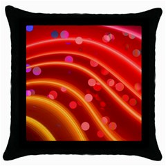 Bokeh Lines Wave Points Swing Throw Pillow Case (black)