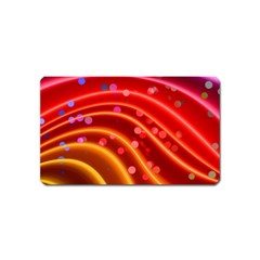 Bokeh Lines Wave Points Swing Magnet (name Card)