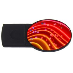 Bokeh Lines Wave Points Swing Usb Flash Drive Oval (2 Gb)