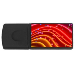 Bokeh Lines Wave Points Swing USB Flash Drive Rectangular (4 GB)