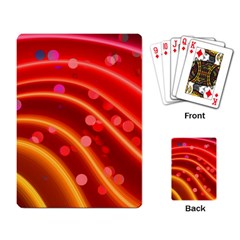 Bokeh Lines Wave Points Swing Playing Card