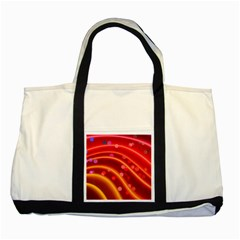 Bokeh Lines Wave Points Swing Two Tone Tote Bag