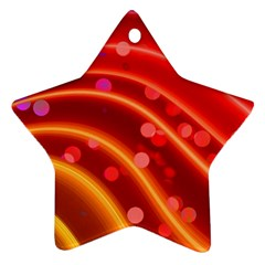 Bokeh Lines Wave Points Swing Star Ornament (two Sides)