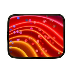 Bokeh Lines Wave Points Swing Netbook Case (small)
