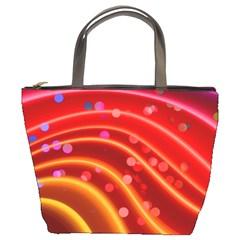 Bokeh Lines Wave Points Swing Bucket Bags
