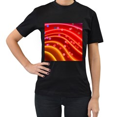 Bokeh Lines Wave Points Swing Women s T Shirt (black)