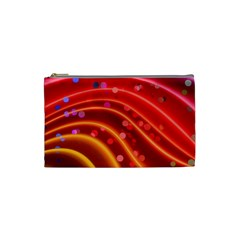 Bokeh Lines Wave Points Swing Cosmetic Bag (small)