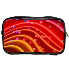 Bokeh Lines Wave Points Swing Toiletries Bags