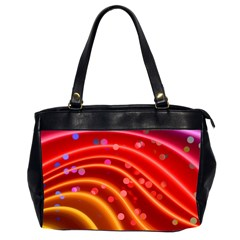 Bokeh Lines Wave Points Swing Office Handbags (2 Sides)